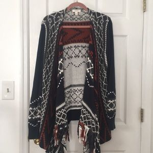 Warm Fringe Cardigan